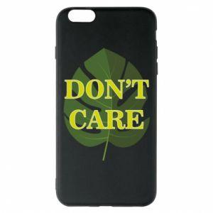 Etui na iPhone 6 Plus/6S Plus Don't care leaf