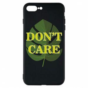 Etui do iPhone 7 Plus Don't care leaf