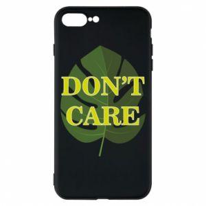 Etui na iPhone 8 Plus Don't care leaf