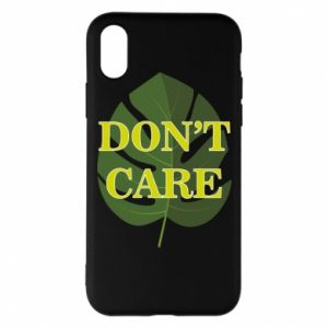 Etui na iPhone X/Xs Don't care leaf