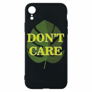 Etui na iPhone XR Don't care leaf