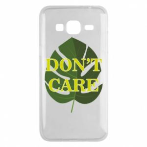 Etui na Samsung J3 2016 Don't care leaf