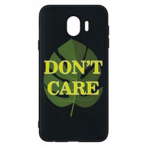 Etui na Samsung J4 Don't care leaf