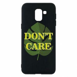 Etui na Samsung J6 Don't care leaf