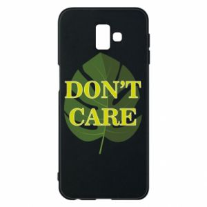 Etui na Samsung J6 Plus 2018 Don't care leaf