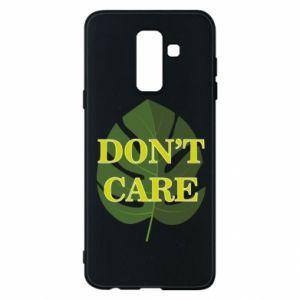 Etui na Samsung A6+ 2018 Don't care leaf