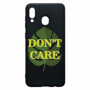 Etui na Samsung A20 Don't care leaf