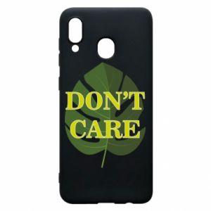 Etui na Samsung A30 Don't care leaf
