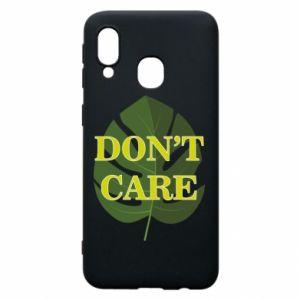 Etui na Samsung A40 Don't care leaf