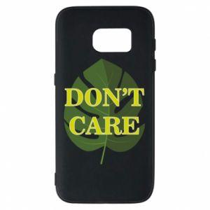 Etui na Samsung S7 Don't care leaf