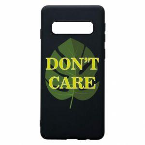Etui na Samsung S10 Don't care leaf