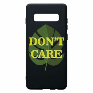 Etui na Samsung S10+ Don't care leaf