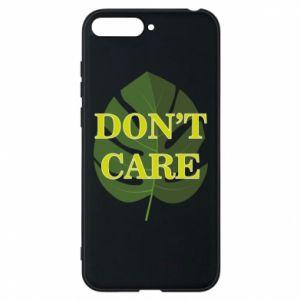 Etui na Huawei Y6 2018 Don't care leaf