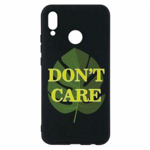 Etui na Huawei P20 Lite Don't care leaf