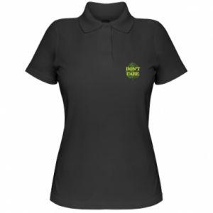 Damska koszulka polo Don't care leaf