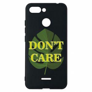 Etui na Xiaomi Redmi 6 Don't care leaf