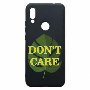 Etui na Xiaomi Redmi 7 Don't care leaf