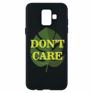 Etui na Samsung A6 2018 Don't care leaf