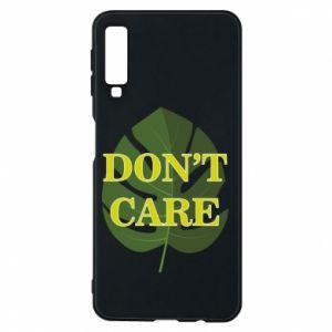 Etui na Samsung A7 2018 Don't care leaf
