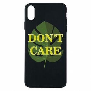 Etui na iPhone Xs Max Don't care leaf