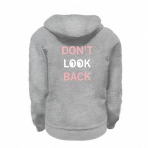 Kid's zipped hoodie % print% Don't look back