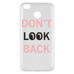 Xiaomi Redmi 4X Case Don't look back