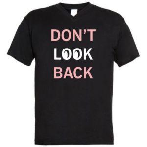 Męska koszulka V-neck Don't look back