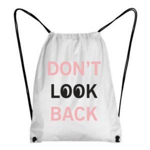 Plecak-worek Don't look back