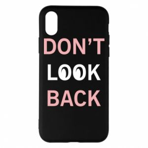 Etui na iPhone X/Xs Don't look back