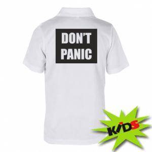 Dziecięca koszulka polo Don't panic