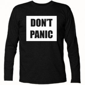 Koszulka z długim rękawem Don't panic