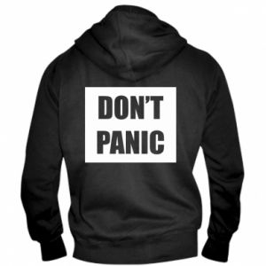 Męska bluza z kapturem na zamek Don't panic