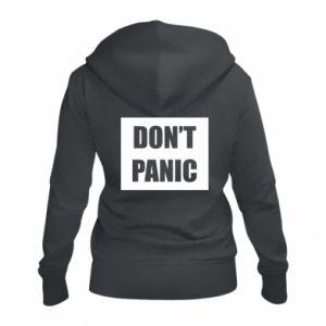Damska bluza na zamek Don't panic