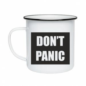 Kubek emaliowane Don't panic