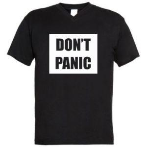Męska koszulka V-neck Don't panic