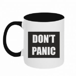 Kubek dwukolorowy Don't panic