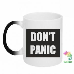 Kubek-kameleon Don't panic
