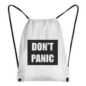 Plecak-worek Don't panic