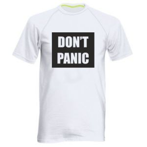 Męska koszulka sportowa Don't panic