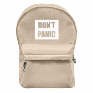 Plecak z przednią kieszenią Don't panic