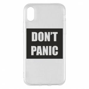 Etui na iPhone X/Xs Don't panic