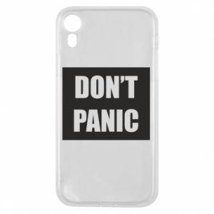 Etui na iPhone XR Don't panic