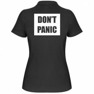 Damska koszulka polo Don't panic