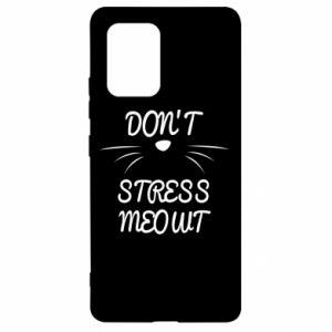 Etui na Samsung S10 Lite Don't stress meowt