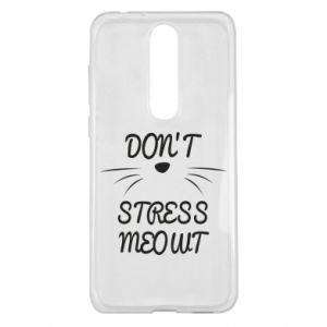 Etui na Nokia 5.1 Plus Don't stress meowt