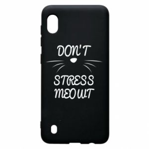 Etui na Samsung A10 Don't stress meowt