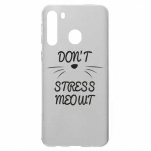 Etui na Samsung A21 Don't stress meowt