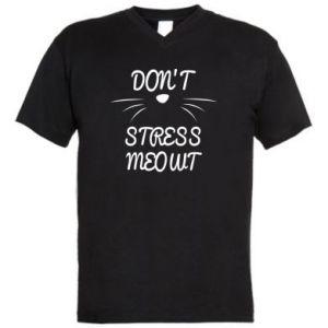 Męska koszulka V-neck Don't stress meowt