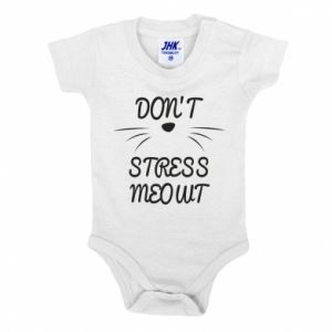 Baby bodysuit Don't stress meowt