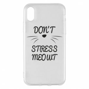 Phone case for iPhone X/Xs Don't stress meowt
